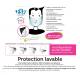 Masques de protection lavable et transparent