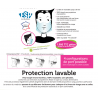 Masques de protection lavable et transparent