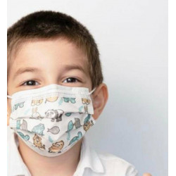 Masques enfants 3 plis medicaux jetables EN14683 TYPE II R