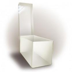 Boîte vide plexiglass transparent